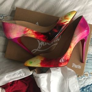 Christian Louboutin Tie and Dye Pigalle Follies 37